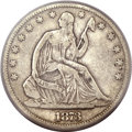 Seated Half Dollars, 1873 50C Open 3, No Arrows Fine 12 PCGS. WB-101....