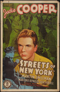 "Movie Posters:Crime, Streets of New York (Monogram, 1939). One Sheet (27"" X 41"").Crime.. ..."