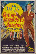 "Movie Posters:Musical, Give My Regards to Broadway (20th Century Fox, 1948). One Sheet (27"" X 41""). Musical.. ..."