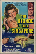 "Movie Posters:Adventure, The Blonde from Singapore (Columbia, 1941). One Sheet (27"" X 41"").Adventure.. ..."