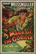 "Movie Posters:Adventure, Mark of the Gorilla (Columbia, 1950). One Sheet (27"" X 41"").Adventure.. ..."