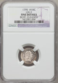 Early Half Dimes, 1795 H10C -- Bent, Cleaned -- NGC Details. Fine. V-2, LM-3, R.5....