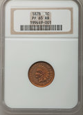 Proof Indian Cents: , 1878 1C PR65 Red and Brown NGC. NGC Census: (114/12). PCGS Population (47/3). Mintage: 2,350. Numismedia Wsl. Price for pro...