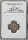 Early Dimes, 1798/97 10C 16 Stars on Reverse -- Obverse Scratched -- NGCDetails. VF. JR-1, R.3....