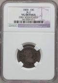 Early Dimes, 1800 10C -- Obverse Scratched -- NGC Details. VG. JR-2, R.5....