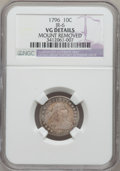 Early Dimes, 1796 10C -- Mount Removed -- NGC Details. VG. JR-6, R.3....