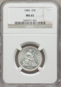 Seated Quarters, 1884 25C MS65 NGC....