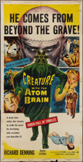 "Movie Posters:Horror, Creature with the Atom Brain (Columbia, 1955). Three Sheet (41"" X 81""). Horror.. ..."
