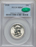 Washington Quarters, 1938 25C MS67 PCGS. CAC....