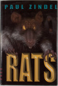 Books:Signed Editions, Paul Zindel. INSCRIBED. Rats. New York: Hyperion Books for Children, [1999]. Third printing. Inscribed by Zind...
