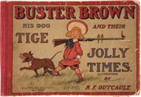 Buster Brown His Dog Tige and Their Jolly Times 68 Page First Edition (Cupples & Leon, 1906) Condition: GD+