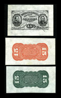 Fractional Currency:Third Issue, Fr. 1272SP 15c Third Issue Wide Margin Pair Gem New. Fr. 1274SP 15cThird Issue Wide Margin Back Choice New.. This is an... (Total: 3notes)