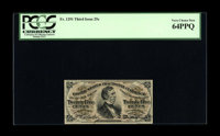 Fr. 1291 25¢ Third Issue PCGS Very Choice New 64PPQ. A bit tight across the top, but with readily apparent deep ori...