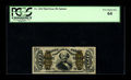 Fractional Currency:Third Issue, Fr. 1334 50¢ Third Issue Spinner PCGS Very Choice New 64. With a little more margin at the top, this Green Back Spinner woul...