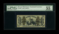 Fr. 1362 50c Third Issue Justice PMG About Uncirculated 55 EPQ. A wonderfully margined example of this Justice type that...