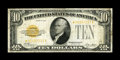 Small Size:Gold Certificates, Fr. 2400* $10 1928 Gold Certificate. Fine+.. ...