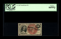 Fr. 1267 15¢ Fourth Issue PCGS Gem New 66PPQ. A truly beautiful example of a 15¢ note that looks as though it...