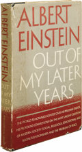 Books:Signed Editions, Albert Einstein: Signed First Edition of Out of My LaterYears. (New York: Philosophical Library, 1950), first edition,... (Total: 1 Item)
