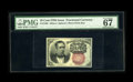 Fractional Currency:Fifth Issue, Fr. 1266 10c Fifth Issue PMG Superb Gem Unc 67 EPQ. A common notein uncommon condition. Examination of the portrait of Secr...