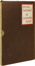 Autographs:Authors, Dylan Thomas Signed, Numbered Limited Edition Book of Poetry: InCountry Sleep, (New York: James Laughlin, 1952), number...(Total: 1 Item)