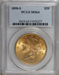 Liberty Double Eagles, 1898-S $20 MS64 PCGS....