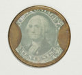 Encased Postage: , HB-36 EP-98a 10¢ Ayer's Sarsaparilla Extremely Fine. The case is anice medium brown, the mica is virtually perfect, and the...