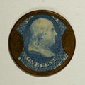 Encased Postage: , HB-49 EP-6a 1¢ Joseph L. Bates FancyGoods About New. A lovely highgrade piece with a brilliant blue stamp, a very nearly pe...