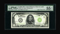 Small Size:Federal Reserve Notes, Fr. 2211-H $1000 1934 Light Green Seal Federal Reserve Note. PMG About Uncirculated 55 EPQ.. ...