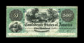 Confederate Notes:1861 Issues, T2 $500 1861. This is a magnificent example of this rarity that was acquired at least forty years ago when our consignor was...