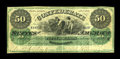 T4 $50 1861. This is an attractive Fine-Very Fine $50 with nice color and original paper surfaces. There is a small tape...
