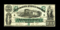 T5 $100 1861. We cannot find any faults with this early C-note that sports dark green ink, sharp edges, embossing, and n...