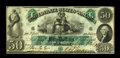 Confederate Notes:1861 Issues, T6 $50 1861. This nicely embossed example has dark green ink and bright paper. The penmanship is dark, while the sound edges...