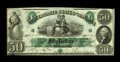 Confederate Notes:1861 Issues, T6 $50 1861. This nicely embossed example has dark green ink and bright paper. The penmanship is fresh, while the sound edge...