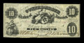 Confederate Notes:1861 Issues, T10 $10 1861. This is a fully framed bright example with sound edges. Fine-Very Fine.. From The George P. Hammerly Col...