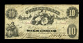 """Confederate Notes:1861 Issues, T10 PF-12 $10 1861. This is listed as a rare variety in the Fricke reference. This variety has more than 50% of """"es"""" remaini..."""