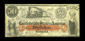Confederate Notes:1861 Issues, T15 $50 1861. We are most pleased with the originality of this issue. The paper is problem free and the reddish-orange overp...
