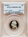 Proof Jefferson Nickels: , 1978-S 5C PR69 Deep Cameo PCGS. PCGS Population (4803/54). NGCCensus: (330/15). Numismedia Wsl. Price for problem free N...