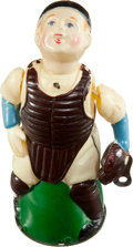 Baseball Collectibles:Others, Circa 1940's New York Baseball Catcher Windup Toy....