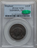 (1694) TOKEN London Elephant Token, Thick Planchet VF30 PCGS. CAC. Hodder 2-B, W-12040, R.2....(PCGS# 55)