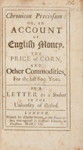 Books:First Editions, Chronicon Preciosum: or, an Account of English Money, the Priceof Corn and Other Commodities, For the last 600 Years. L...