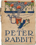 Books:First Editions, [Beatrix Potter]. The Tale of Peter Rabbit. Philadelphia:Henry Altemus, 1904, i.e. 1904-1908. Second edition, f...
