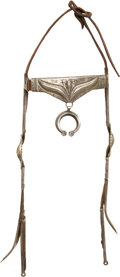 American Indian Art:Jewelry and Silverwork, A NAVAJO SILVER HEADSTALL. c. 1900...
