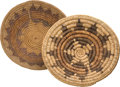 American Indian Art:Baskets, TWO NAVAJO POLYCHROME WEDDING TRAYS. c. 1920 and 1950... (Total: 2Items)