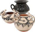 American Indian Art:Pottery, THREE SOUTHWEST POTTERY JARS . c. 1890 and 1970... (Total: 3 Items)