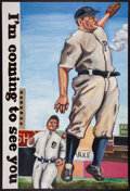Baseball Collectibles:Others, Ty Cobb And Honus Wagner Original Painting. ...