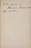 Books:Signed Editions, Theodore Roosevelt. The Rough Riders. New York: CharlesScribner's Sons, 1899. First edition. Signed by the author...