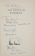 Books:Signed Editions, John Hunt. The Ascent of Everest. [London]: Hodder andStoughton, 1953. Second impression. Signed by the author, E...