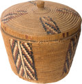 American Indian Art:Baskets, A THOMPSON RIVER POLYCHROME STORAGE BASKET. c. 1900...