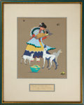 American Indian Art:Photographs, MOTHER AND CHILD. Quincy Tahoma. c. 1943...