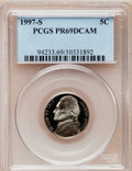 Proof Jefferson Nickels: , 1997-S 5C PR69 Deep Cameo PCGS. PCGS Population (3640/253). NGCCensus: (849/293). Numismedia Wsl. Price for problem free ...